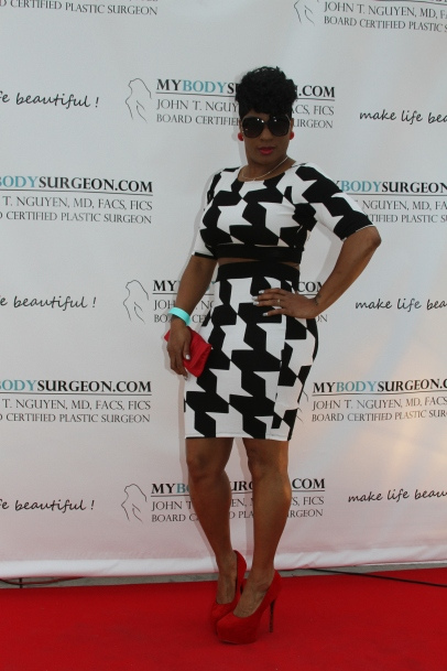 "Our patient looking fabulous on the ""step and repeat!"""